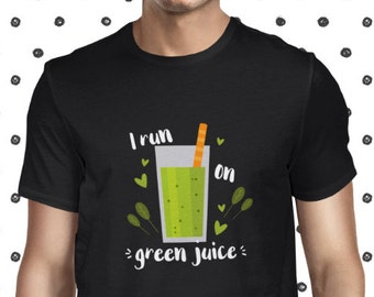Green Juice T-shirt for Men - Casual T Shirt for Men - Plant-based Green Juice Love Shirt - Vegan Men's Tee - Vegetarian Greens Tee Shirt