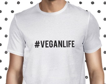 Veganism T Shirt Save Animals Tee Vegan Wear Male Vegan T-shirt Animal Rights Tee Vegan Men's T-shirt Plant-based Tee Vegan Shirt Planteeful
