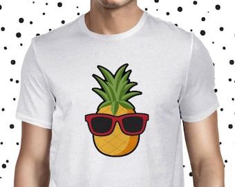 Pineapple Shirt Vegetarian Tee Funny Vegan Tshirt Vegan Shirt Plant Based Tee Plant Based Shirt Cute Plant Tee Vegan Men's T-shirt Herbivore
