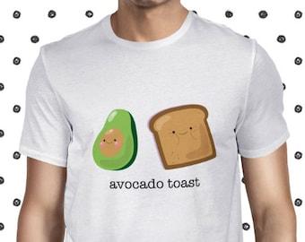 Avocado Toast T-shirt - Men's Funny Veggie T Shirt - Vegetarian Shirt - Funny Avocado Toast Tee - Plant-based Men's Tee Shirt - Casual Tee