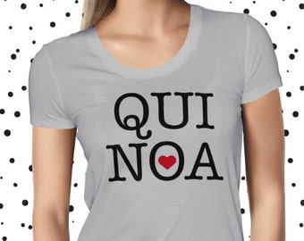 Cute Quinoa Shirt - Funny Quinoa Shirt - Vegan T Shirt - Vegan Shirt - Healthy T-shirt - Funny Tee - Vegetarian - Plant Based Shirt