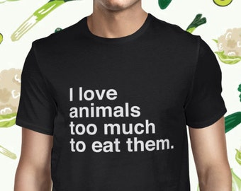Animal Welfare T-shirt - Animal Rights Shirt for Men - Vegan T Shirt - Animal Love - Plant-based Tee - Vegetarian Statement Shirt for Men