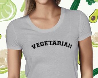Vegetarian Women's T-shirt - Plant-based Shirt for Women - Statement Vegetarian Tee Shirt - Vegan Tshirt for Women - Vegetarian Love Shirt