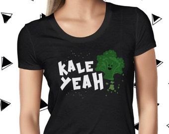 Kale Love Yeah Cute Vegan Shirt Cute Vegan Tee Vegetarian Tee Funny Vegan Tshirt Plant Based Tee Cute Plant Tee Vegan T-shirt Planteeful
