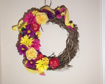 Pop of Color Wreath