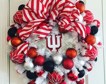 Indiana university basketball wreath.