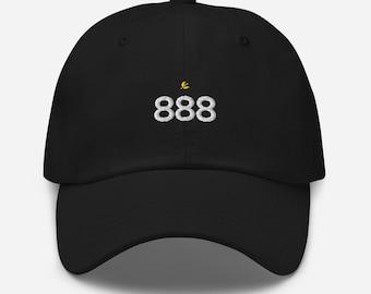 Ornateunicorn Angel Number 888 Crescent Moon Dad Hat