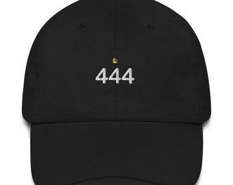 Ornateunicorn Angel Number 444 Crescent Moon Dad Hat