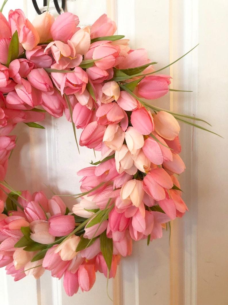 Tulip spring everyday wreath centerpiece,