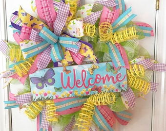 Spring Butterfly everyday wreath