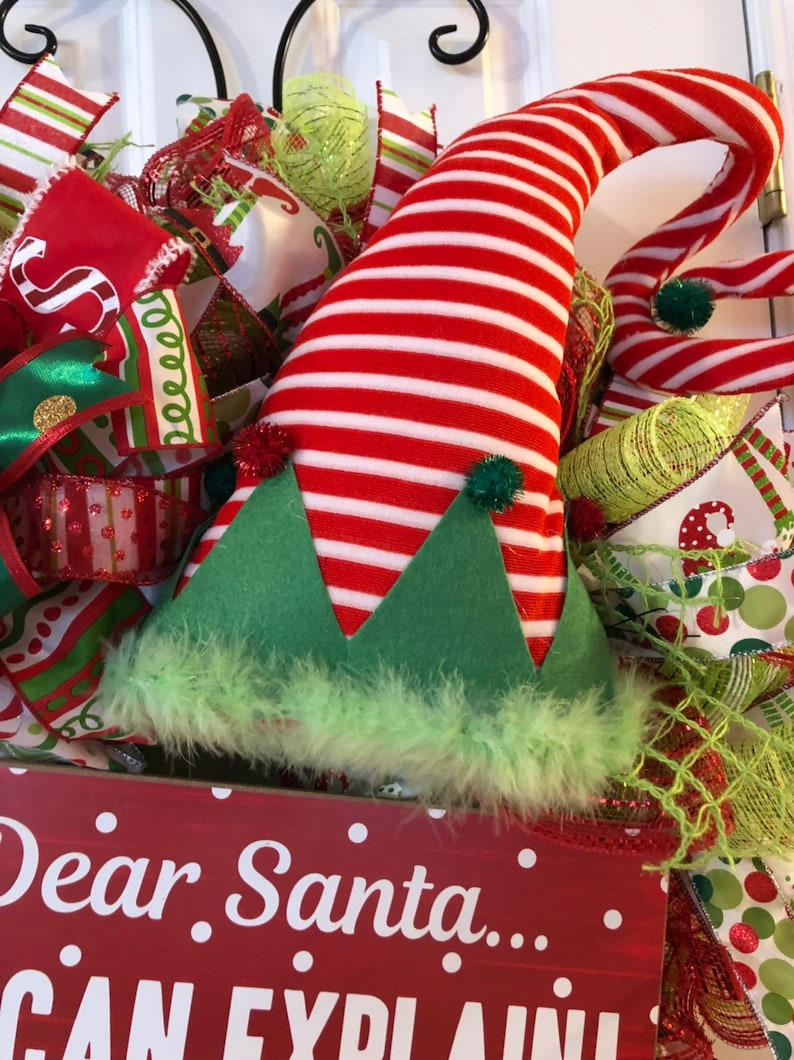 Christmas elf everyday wreath