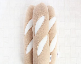 Baguette Dog Toy, Large Dog Toy, Plush Toy, French Dog Toy, Squeaky Toy, Dog Pillow Toy, XL Long Cushion Pillow