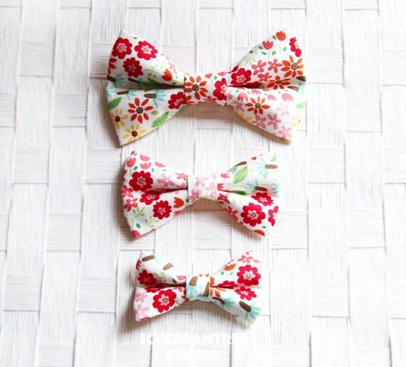 Printemps fleuri à l'arc - Collier noeud glisser sur, chien Collier noeud accessoires, accessoires pour chat collier noeud, collier ajouter sur noeud papillon