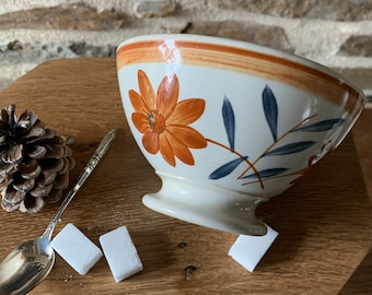 Bol former Gien model Ginette,old bowl,French bowl,campaign chic,gien,faience given,bowl,grandmother's bowl,frenchy,French bowl,bol gien,