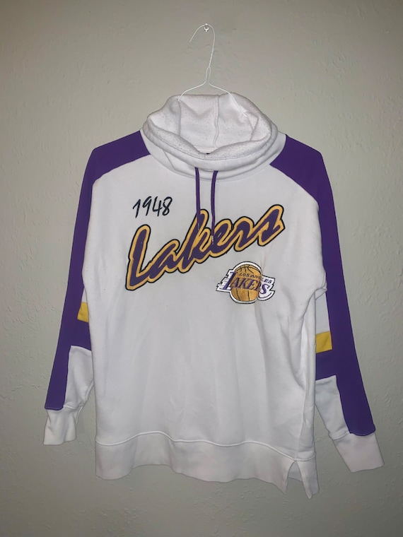 Vintage Lakers Sweatshirt, NBA, Vintage, Small Cre