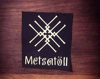 Metsatoll Logo Band Patch Folk Metal Heavy Metal Thrash Metal