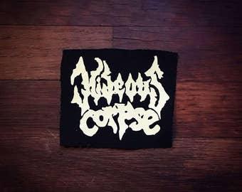 Hideous Corpse Logo Band Patch Brutal Death Metal Grindcore Thrash