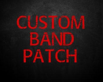 CUSTOM Band PATCH Thrash Black Metal Metal Grindcore Punk Noisecore Brutal Death Metal Progressive Metal Underground Horror