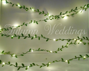 Green Leaves Fairy Lights 2-10m String Lights / Garland - Wedding Decorations - Battery Operated Operate Indoor Bedroom Weddings Decorations
