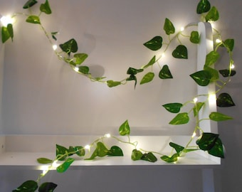 Ivy Fairy Lights - Battery Operated - Wedding Decorations - Bedroom Decor - Christmas Decorations Table Decor Garland  - LED String Home