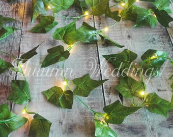 Ivy Fairy Lights 2.5m / 4.7m / 6.9m / 9.1m LED String Lights Garland Wedding Decorations Battery Operated Indoor Bedroom Weddings Decor