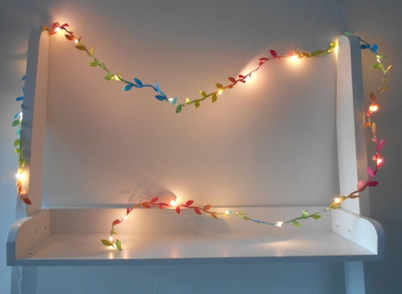 meet a2e39 cf776 Rainbow Fairy Lights Leaf - Garland - String Lights Battery Indoor Bedroom  Wedding Decorations 2m 3m 4m 5m