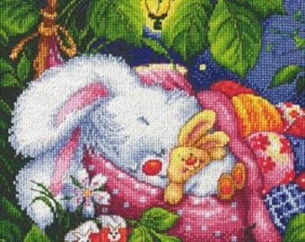 "LanSvit CROSS-STITCH KIT ""Good Night, My Honey Bunny"" (D-003)"
