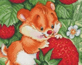 "LanSvit CROSS-STITCH KIT ""Strawberry Happiness"" (D-001)"