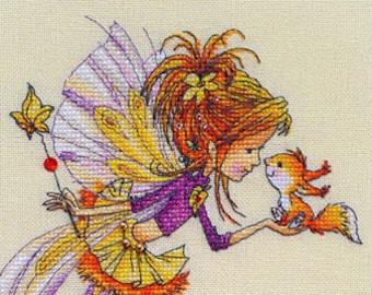 """LanSvit CROSS-STITCH KIT """"In an Autumn Mood"""" (D-051)"""