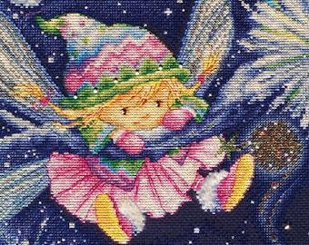 "LanSvit CROSS-STITCH KIT ""Winter's Tale"" (D-029) /beauty embroidery kreuzstich pointdecroix puntocroce fairy fairytale winter sweet children"