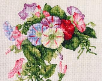 """LanSvit CROSS-STITCH KIT """"Convolvulus"""" (A-002) /flower Longpre classic paint beauty embroidery kreuzstich pointdecroix puntocroce blindweed"""