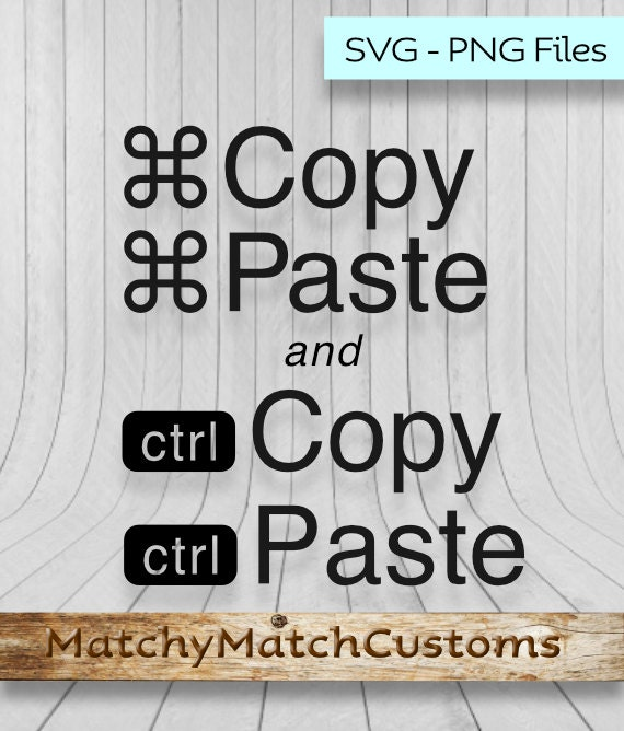 Mac Pc Copy Paste Cutting Files Svg And Png For Silhouette Etsy