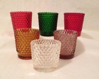 Vintage Votive Cups Candle Holders In Various Colors