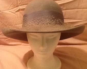 Gray Lancaster Wool Hat with Bow   Mesh 0709d34bd