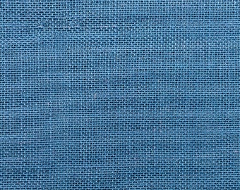 """Sold by the yard Burlap ROYAL BLUE Fabric 40/"""" Wide"""