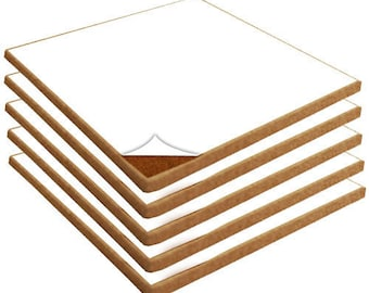 """12"""" x 12"""" Natural Fine Grain Cork Sheets with Adhesive Backing - 5 Sheet Value Pack, 1/16"""" to 1"""" Thicknesses Available"""