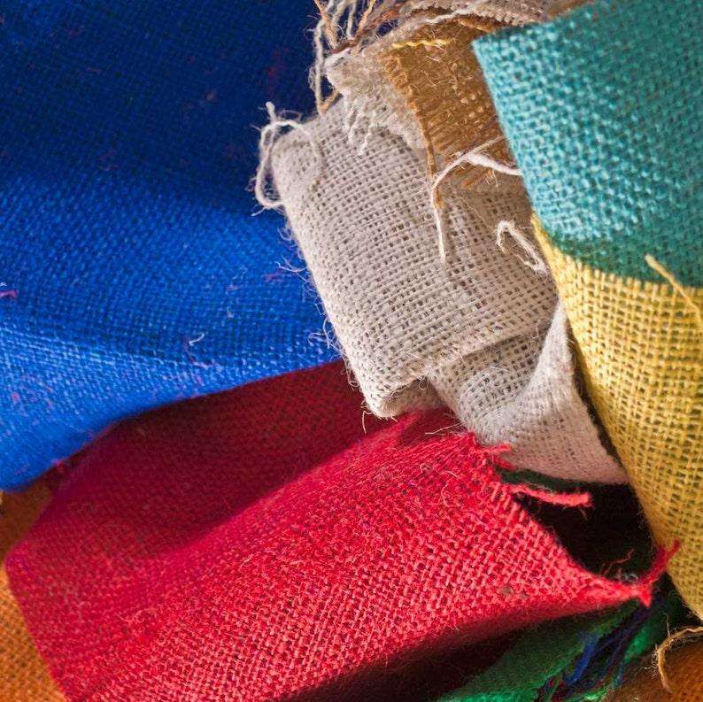 100/% Jute Burlap Grab Bag Assorted 8oz Burlap Scrap Bag 1 Pound Assorted Colors and Piece Sizes