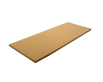 """12"""" x 36"""" Natural Fine Grain Cork Sheet - Single Sheet, 1/16"""" to 1"""" Thicknesses Available"""