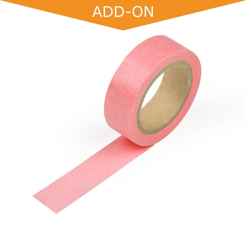 Light Pink Solid Color Washi Tape Light Weight Thin Decorative Japanese Tape 9.75 Meters Long 15mm Wide