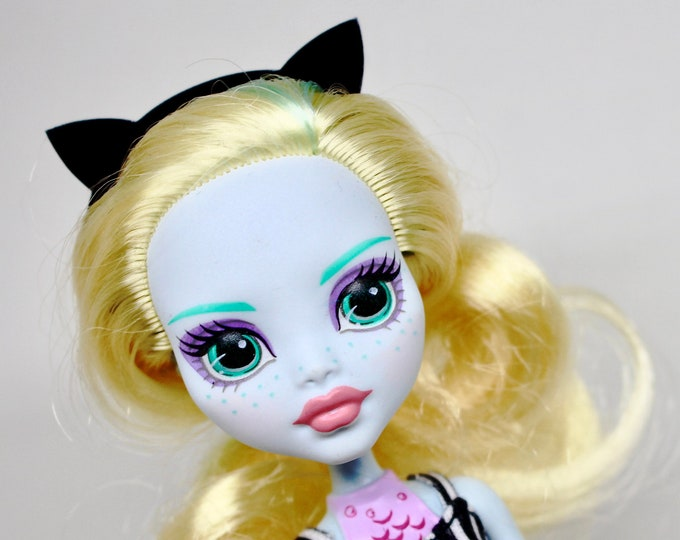 Acrylic Doll Headbands - Devil Horns, Cat Ears, Bat Wings, Butterfly and More in Black Acrylic for Monster High