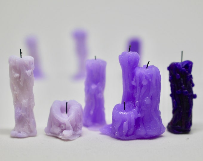 Miniature Wax Drip Candles Set of 5 for 1:6 Scale Dolls - Monster High, Ever After High, Blythe, Pullip, BJD
