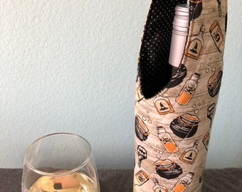 Witches Brew Halloween wine bottle carrier tote bag | Free US shipping | Halloweencore | Halloween host gift