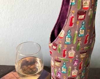 Potion Bottles Halloween wine bottle carrier tote bag | Free US shipping | Halloweencore | Halloween host gift