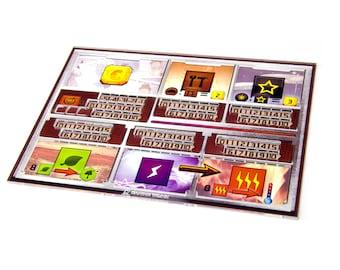 5pcs Terraforming Mars player board acrylic overlays ,trays for Terraforming Mars mats, Player Tray for Terraforming Mars
