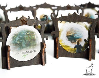 Gate Markers for Eldritch Horror and Arkham Horror Board Games, Gate stands, Gate holders
