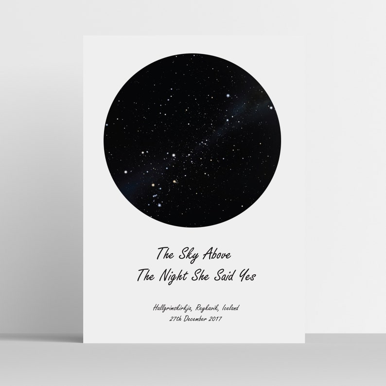 Star Map Print Chart Personalised Of The Stars