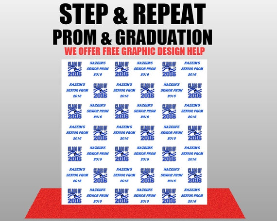 CUSTOM Graduation Prom Step And Repeat Photography Custom