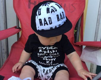 Rad Minky Adult, Child, Baby Trucker Hat, Black SnapBack