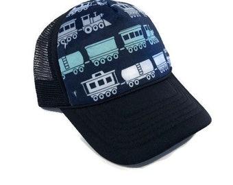 480f9671109 Train Minky Front Trucker Hat - Kids Trucker Hat - Snap Back Hat - Baby  Trucker Hat - Adult Trucker Hat - Kids Baseball Hat - Youth Hat