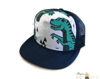 50fc27aa041ce Dinosaur Minky Front Trucker Hat Navy - Kids Trucker Hat - Snap Back Hat -  Baby Trucker Hat - Adult Trucker Hat - Baseball Hat - Youth Hat